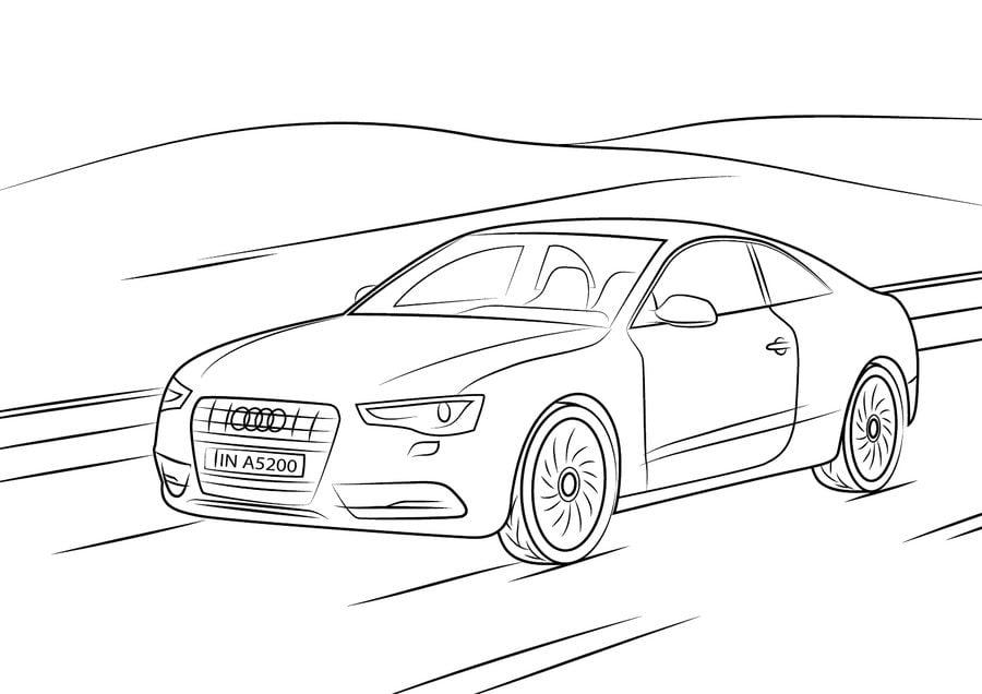 Kolorowanki: Audi do druku dla dzieci i dorosłych