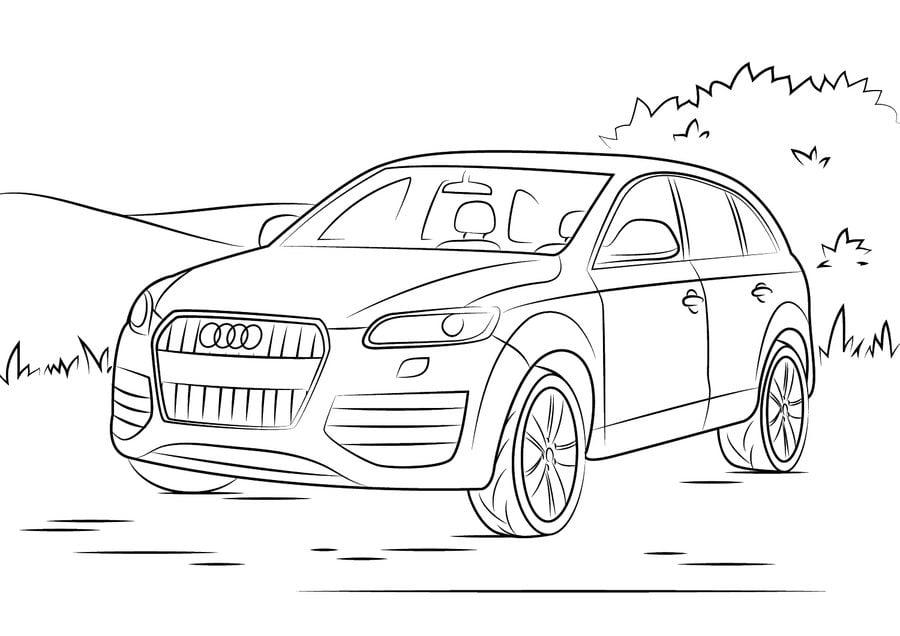 Ausmalbilder: Ausmalbilder: Audi zum ausdrucken, kostenlos