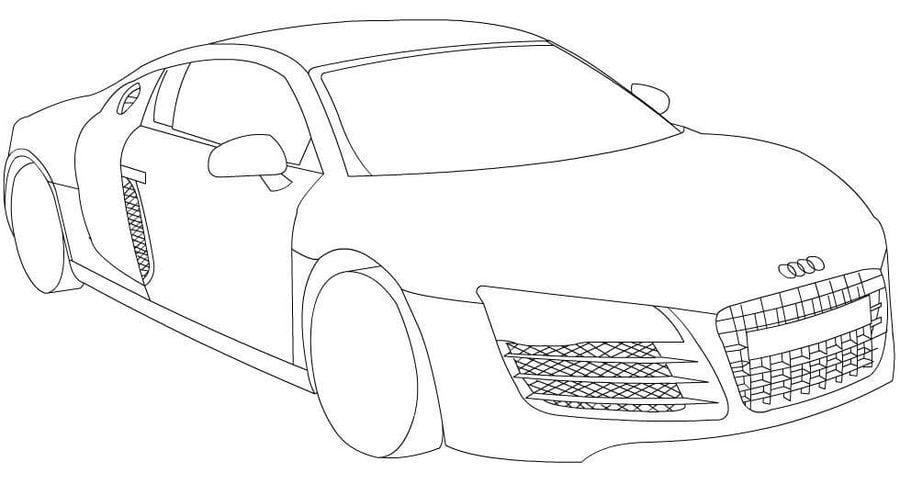 Dibujos para colorear: Audi imprimible, gratis, para los