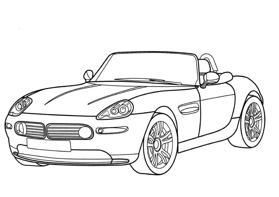 Disegni da colorare: Disegni da colorare: BMW stampabile