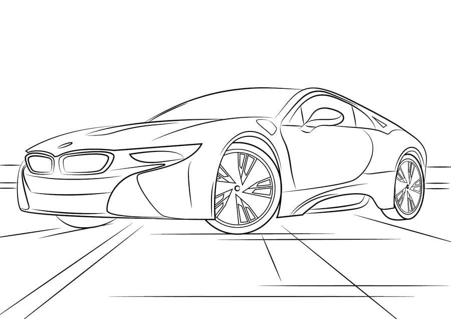 Ausmalbilder: BMW zum ausdrucken, kostenlos, für Kinder