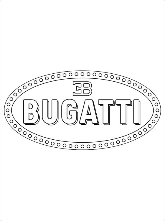 Coloring Pages Coloring Pages Bugatti Logo Printable