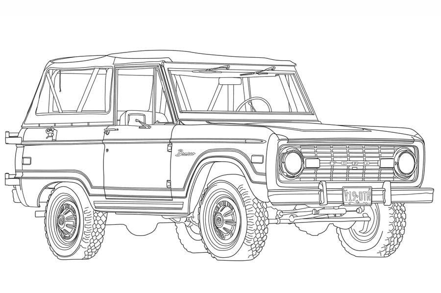 Disegni da colorare: Disegni da colorare: Ford stampabile