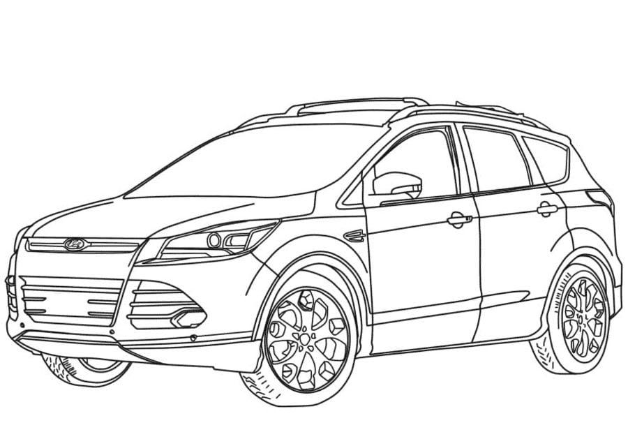 Ausmalbilder: Ausmalbilder: Ford zum ausdrucken, kostenlos
