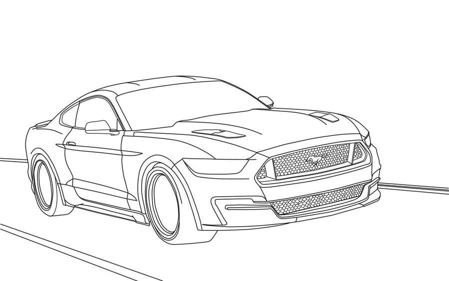 Disegni da colorare: Ford stampabile, gratuito, per