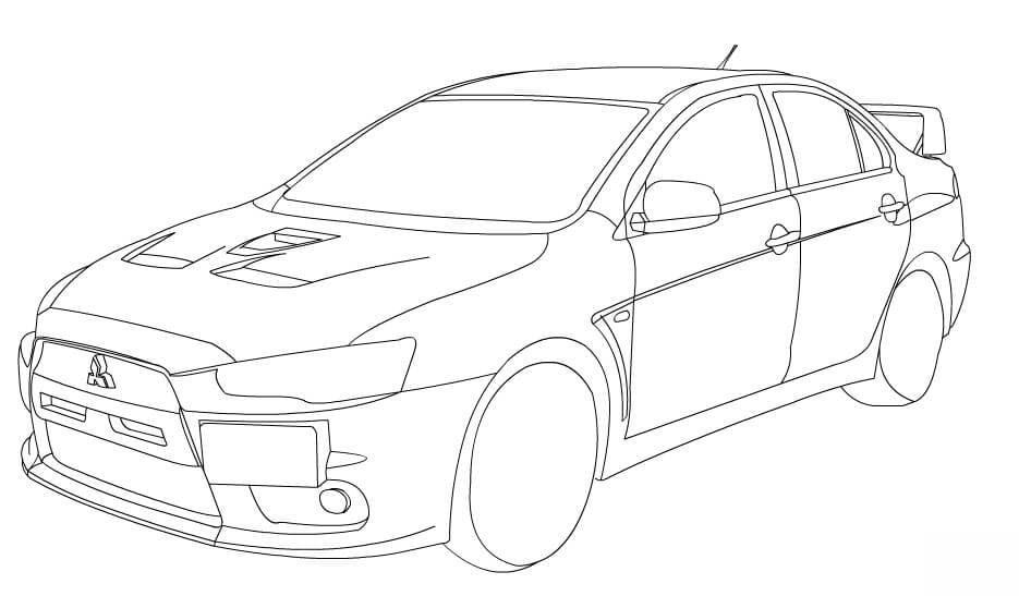 Dibujos para colorear: Carros de carreras imprimible