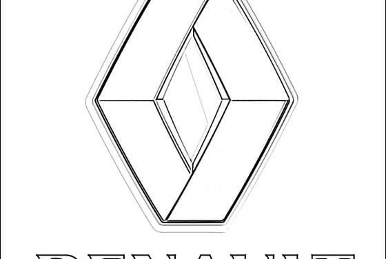 Coloring pages: Renault – logo