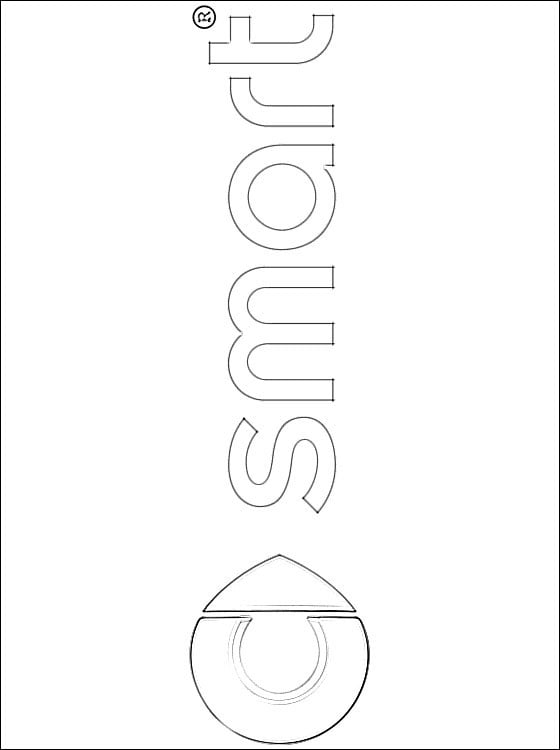 Ssangyong Logo Coloring Page