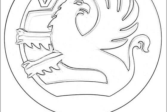 Coloring pages: Vauxhall – logo