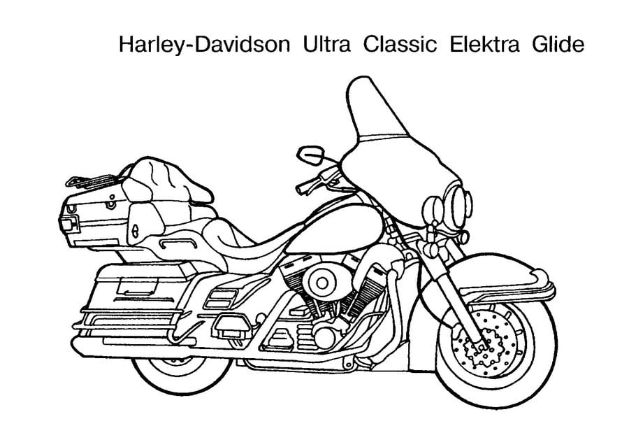 Coloring Pages Coloring Pages Harley Davidson Printable