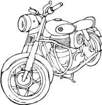 Dibujos para colorear: Harley-Davidson imprimible, gratis ...