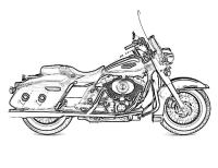 Famoso Harley Davidson Para Colorear Ornamento - Ideas ...