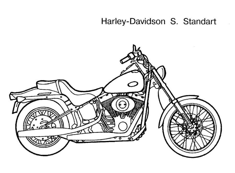 Ausmalbilder: Harley-Davidson zum ausdrucken, kostenlos
