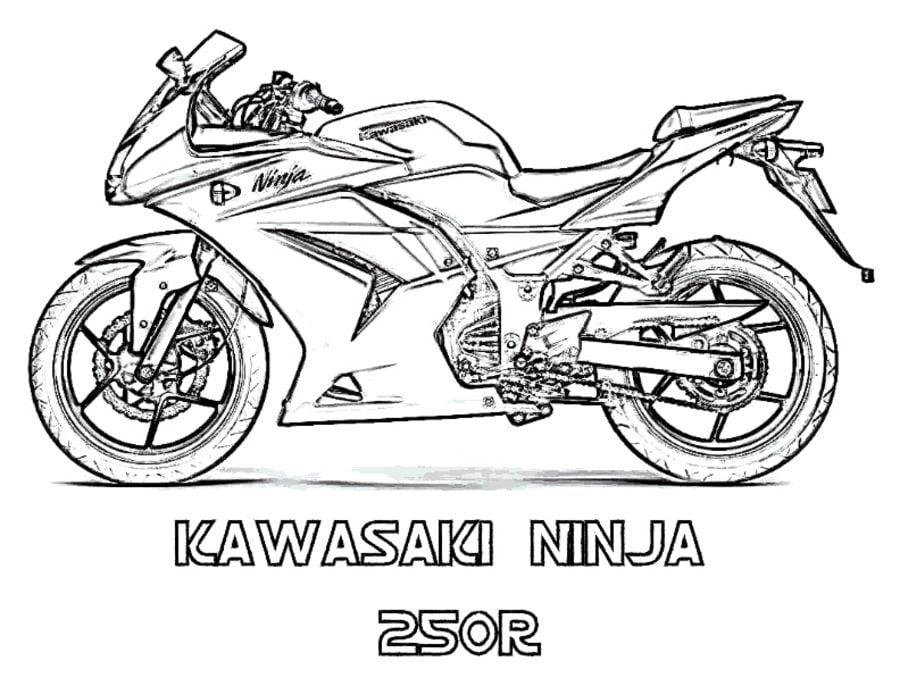 Ausmalbilder: Ausmalbilder: Kawasaki zum ausdrucken