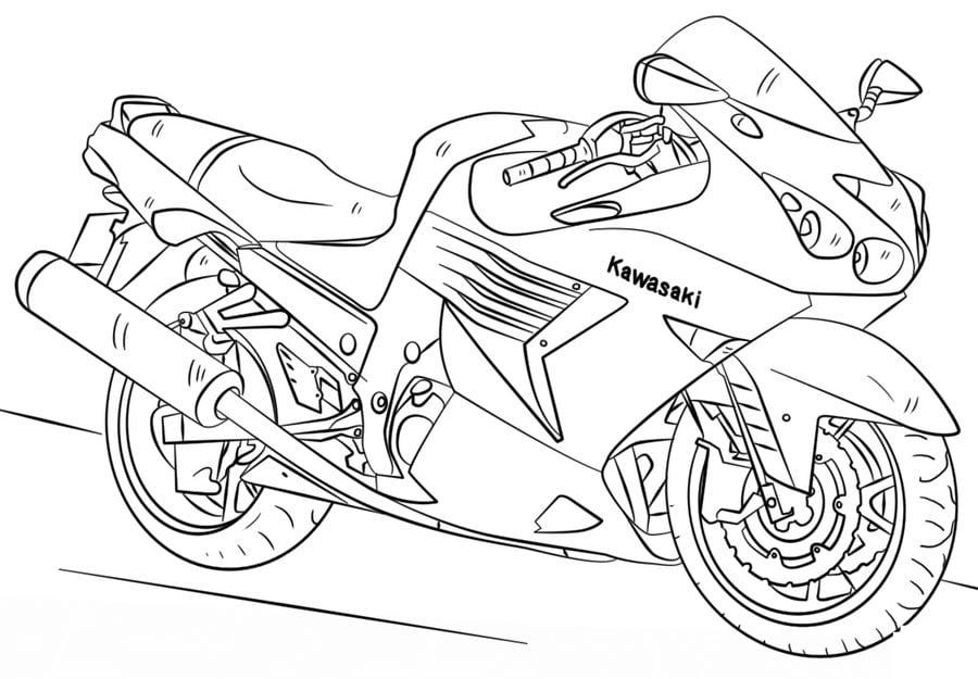 Ausmalbilder: Kawasaki zum ausdrucken, kostenlos, für