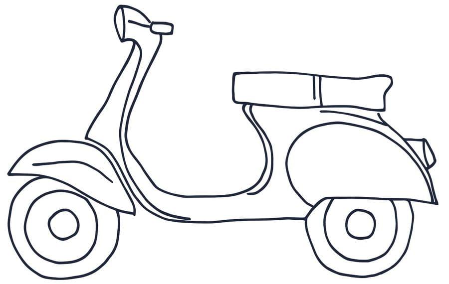 ausmalbilder ausmalbilder motorroller zum ausdrucken