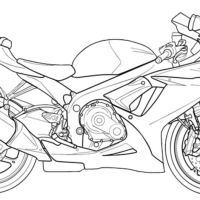 Ausmalbilder Motorrad Suzuki