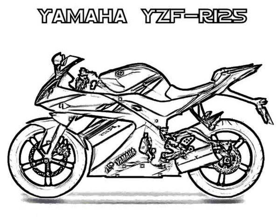 Kolorowanki: Kolorowanki: Yamaha do druku dla dzieci i