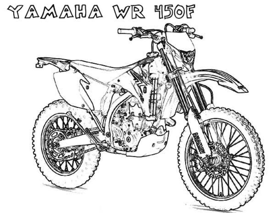 Kleurplaat Crossmotor Ktm Kleurplaat Moto Afb 16439