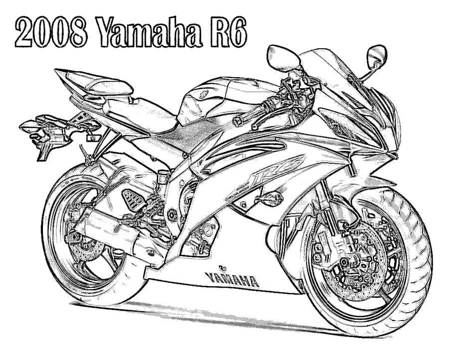 Dibujos para colorear: Yamaha imprimible, gratis, para los