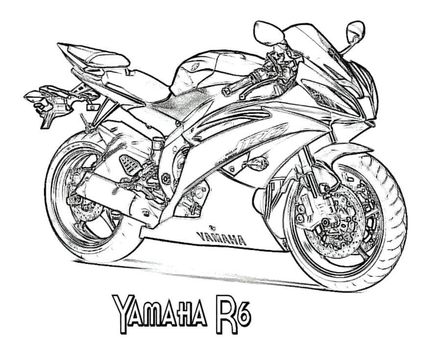 Coloriages: Yamaha imprimable, gratuit, pour les enfants