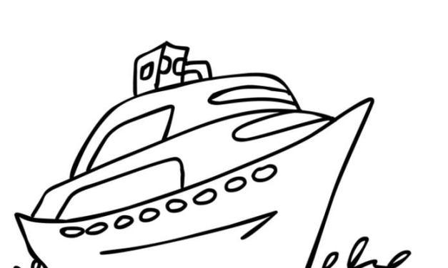 Ausmalbilder: Boot