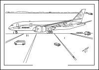 Dibujos para colorear: Boeing imprimible, gratis, para los