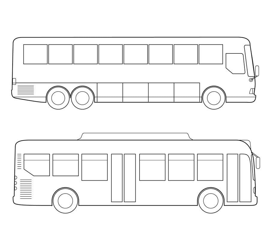 Kolorowanki Kolorowanki Autobus do druku dla dzieci i