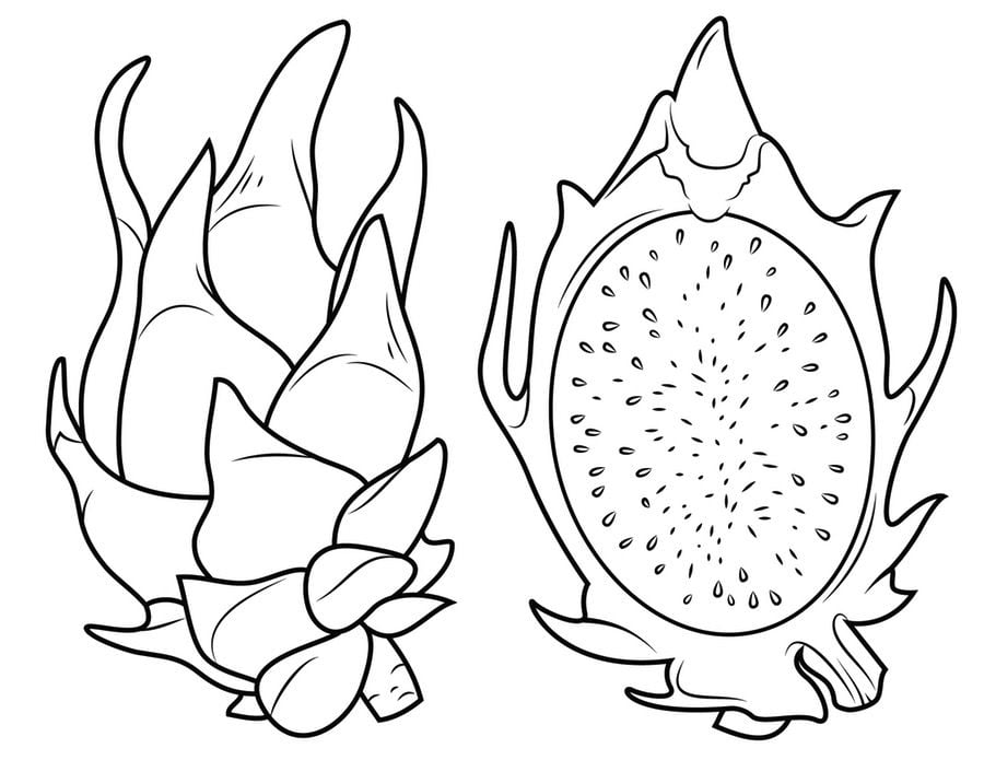 Coloring pages: Coloring pages: Durian, printable for kids