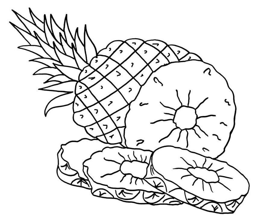 Ausmalbilder Ausmalbilder Ananas Zum Ausdrucken Kostenlos Für