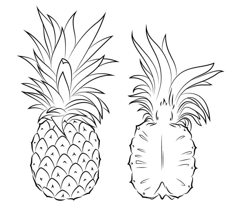 Ausmalbilder: Ausmalbilder: Ananas zum ausdrucken