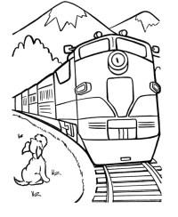 Disegni da colorare: Treno stampabile, gratuito, per