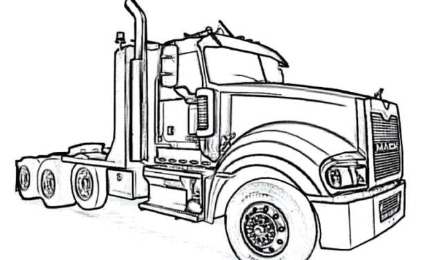 Coloring pages: Big trucks