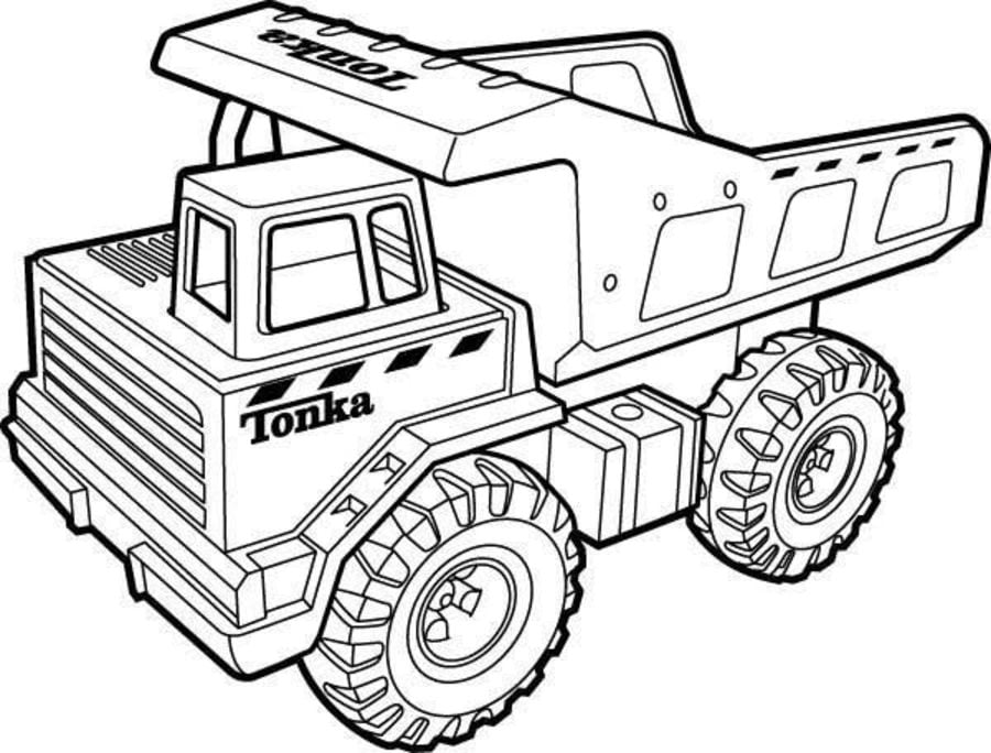Coloring Pages: Coloring Pages: Dump Trucks, Printable For Kids & Adults,  Free