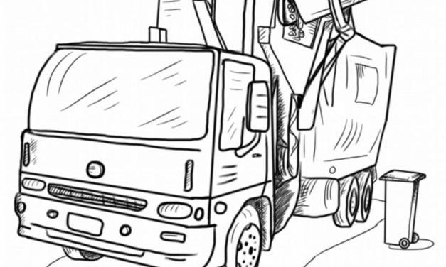 Ausmalbilder: Müllwagen