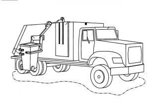 Müllwagen Malvorlage   Coloring and Malvorlagan