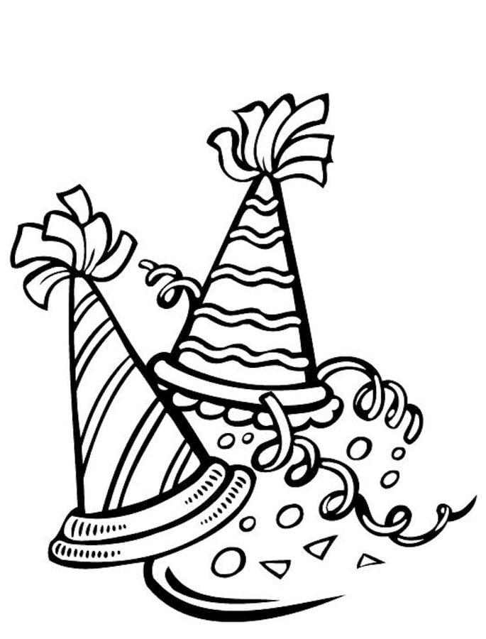 Ausmalbilder: Ausmalbilder: Partyhüte zum ausdrucken