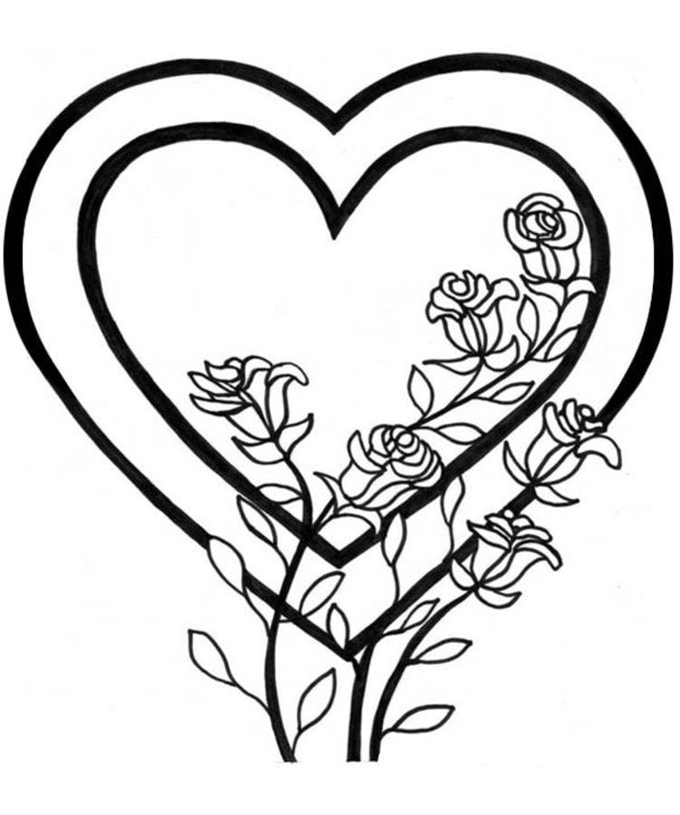 valentinstag herz ausmalbilder  kostenlos zum ausdrucken