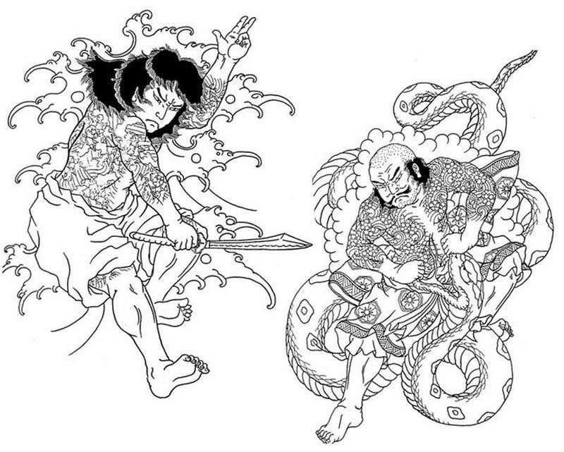 ausmalbilder für erwachsene japan zum ausdrucken
