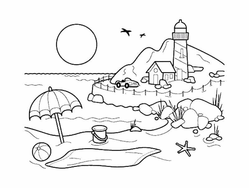 Dibujos Para Colorear Para Adultos Paisaje Imprimible Gratis