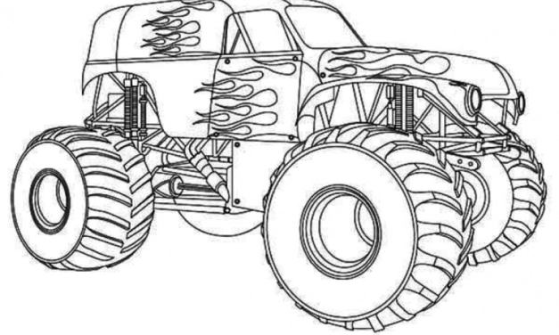 Coloring pages: Monster truck