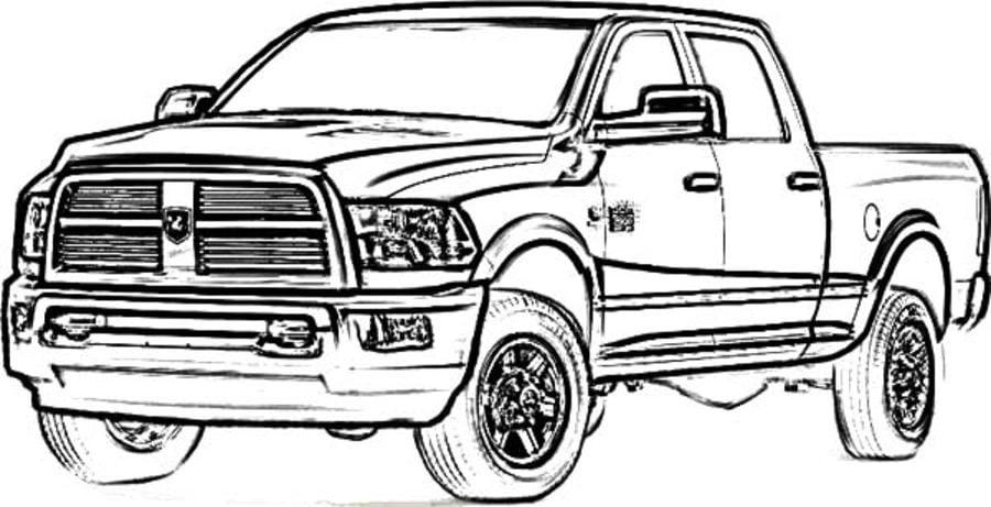 Ausmalbilder: Ausmalbilder: Geländewagen zum ausdrucken