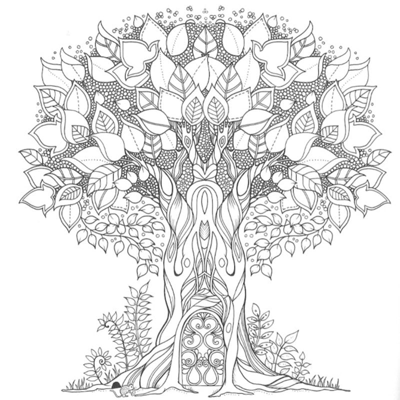 Coloring pages for adults: The Secret Garden, printable