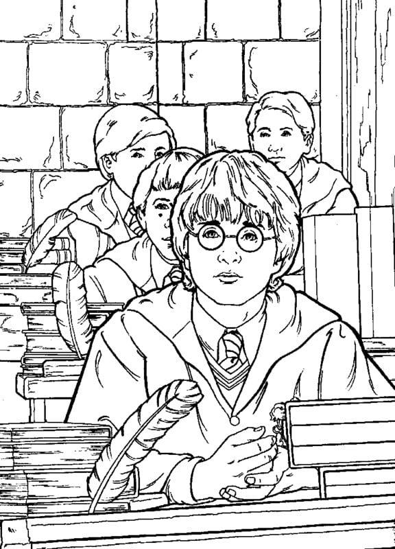 Kolorowanki dla dorosłych: Harry Potter do druku, do