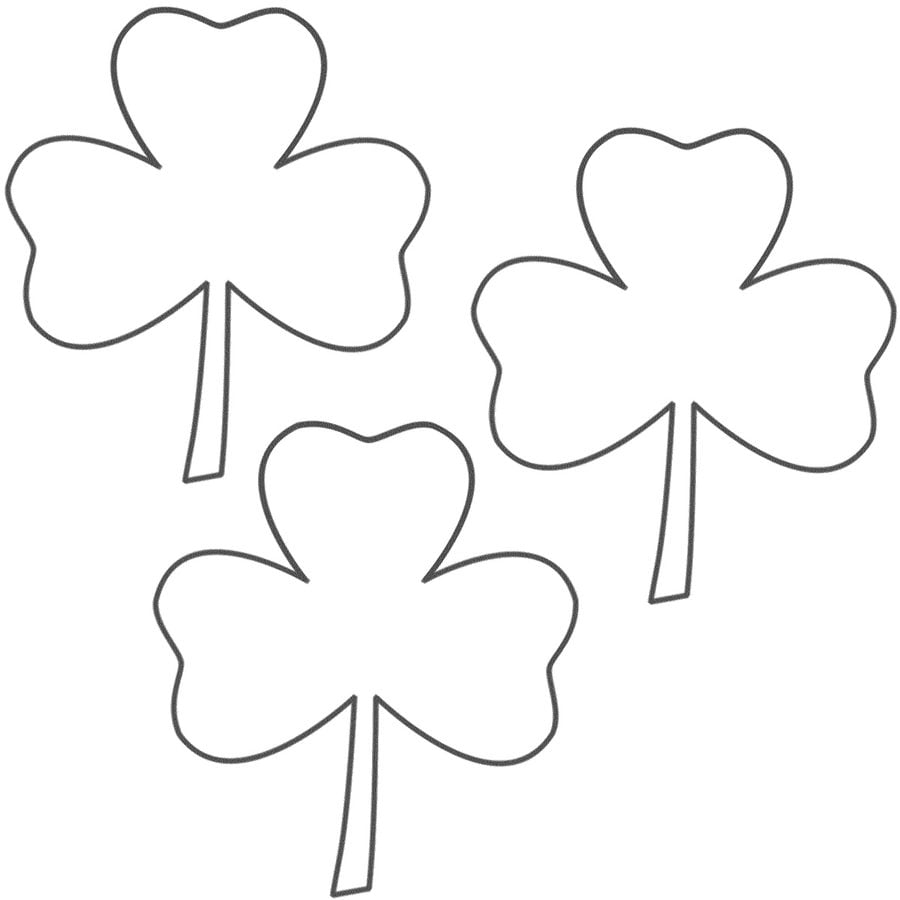 Coloring pages: Shamrock Coloring pages Holidays Saint Patrick's Day