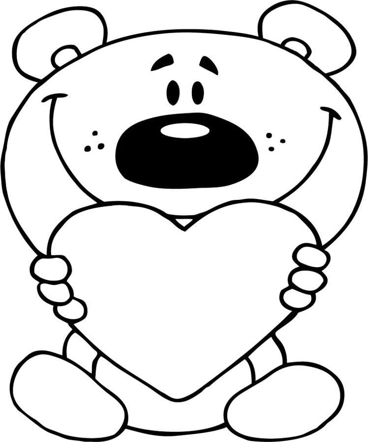 Dibujos para colorear: Osito de peluche imprimible, gratis, para los niños y los adultos