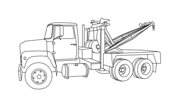 Coloring pages: Tow truck