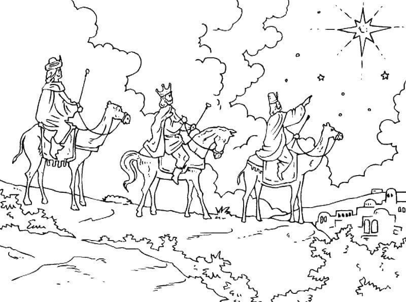 Epiphany Coloring pages for adults Holidays