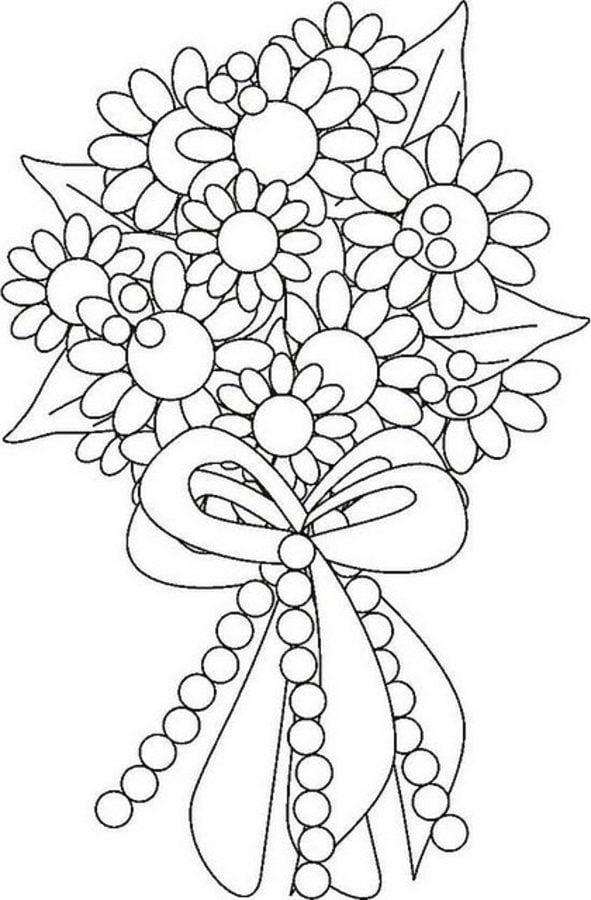 39 Ausmalbilder Blumenstrauß Geburtstag - Besten Bilder