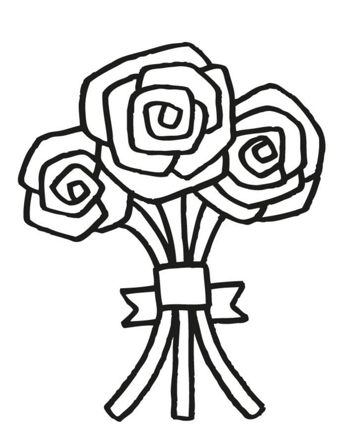 Kolorowanki: Kolorowanki: Bukiet kwiatów do druku dla
